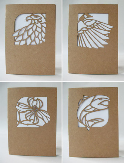 Laser Cut, Nature-Inspired Cards | Paper Crave | Big and Open Data, FabLab, Internet of things | Scoop.it