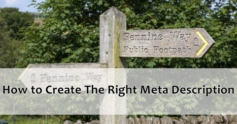 How to Create the Right Meta Description | The Social Touch | Scoop.it