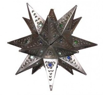 Tin Star With Marbles Natural, Electrified | Pottery | Scoop.it