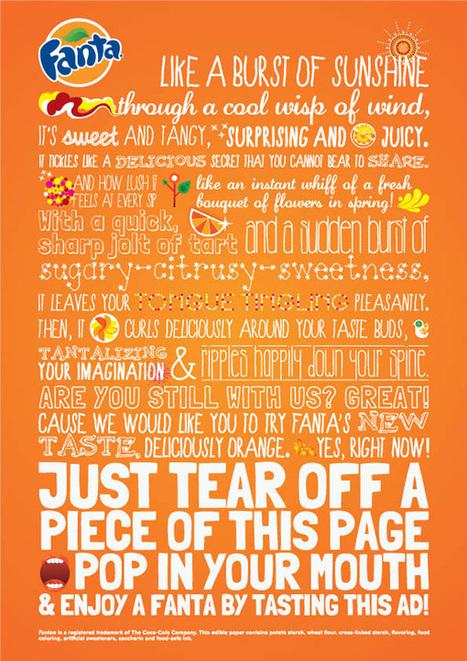 Fanta lance la première publicité print qui se mange | Tendances Communication - Réalité augmentée - Objets communicants | Scoop.it