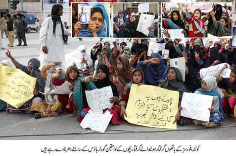 Hundreds protest for release of their innocent children in Quetta | Human Rights and the Will to be free | Scoop.it