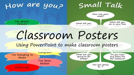 Classroom Posters: Using PowerPoint to make classroom posters | The 21st Century | Scoop.it