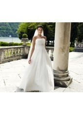 A Line Strapless Court Train Tulle Ivory Wedding Dress H1ly0042 for $957 | cosplay | Scoop.it