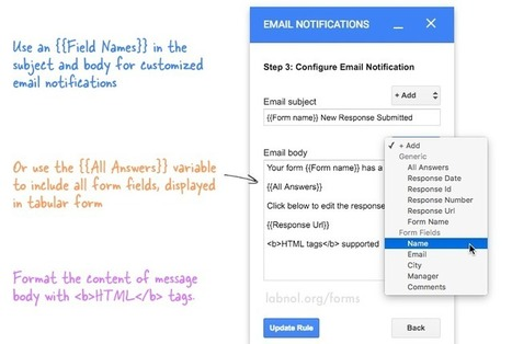 Get Google Forms Data in an Email Message | Using Google Drive in the classroom | Scoop.it