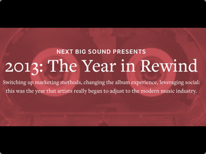 √ Next Big Sound's 2013 review reports a 137% growth in streaming | The music industry in the digital context | Scoop.it