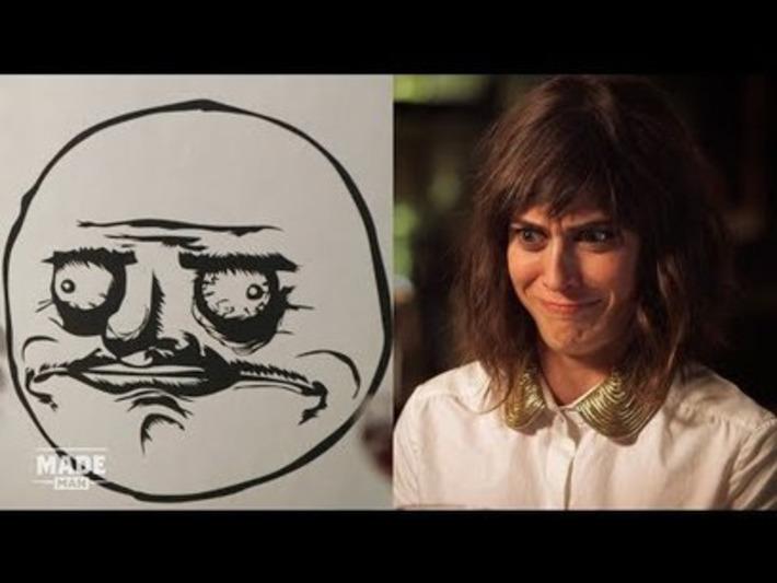 Actress Lizzy Caplan Imitates Rage Comic Meme Faces | Walking On Sunshine | Scoop.it