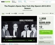 The Failures of Crowdfunding: No, Kickstarter Cannot Support an Opera Company | Social Media y RRSS | Scoop.it