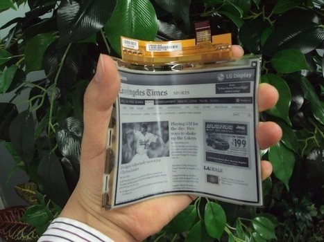 LG bendable eBook display ready for mass production - Pocket-lint | Pobre Gutenberg | Scoop.it
