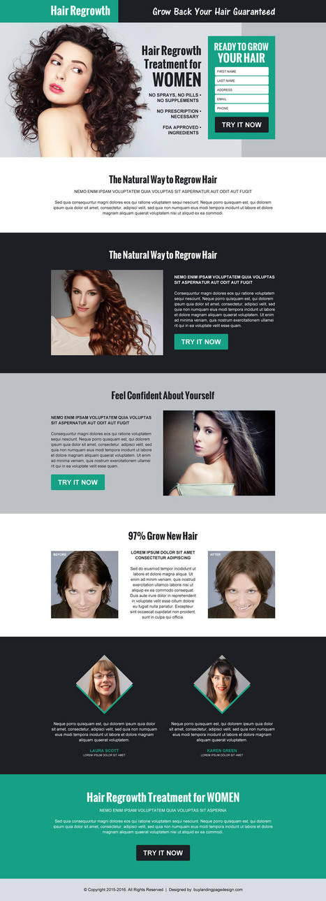 hair-regrow-product-selling-lead-gen-lp19 | Hair Loss landing page design preview. | responsive landing pages | Scoop.it