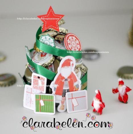 Manualidades con reciclaje: Arbolito de Navidad con chapas ...   Encacharrados con FabLab   Scoop.it