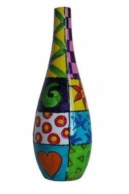 Artwork: 'Jazz' Hand Painted Oil Bottle - Open House Art | Art - Crafts - Design | Scoop.it