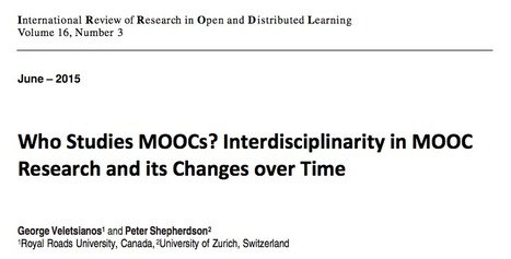 Who studies MOOCs? Interdisciplinarity in MOOC research and its changes over time | Massively MOOC | Scoop.it