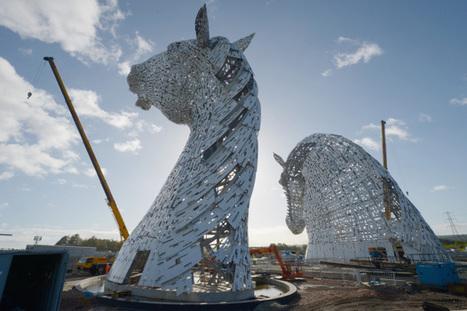 The Calgary Herald | Des têtes de chevaux de 300 tonnes et 300m de haut dominent Falkirk en Ecosse | Cheval | Scoop.it