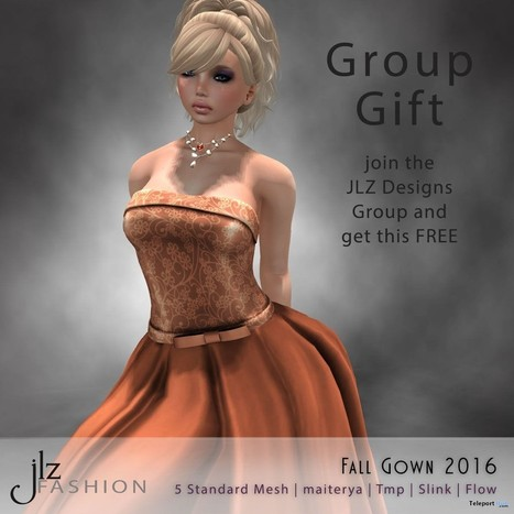 Fall Gown Group Gift by JLZ Designs | Teleport Hub - Second Life Freebies | Second Life Freebies | Scoop.it