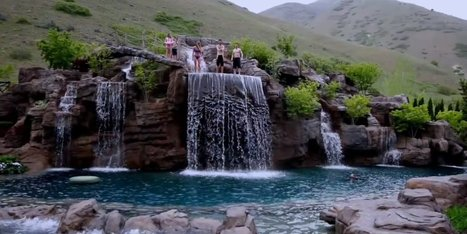WATCH: $2 Million Swimming Pool Hides Secrets In Man-Made Mountain | My kind of Home | Scoop.it