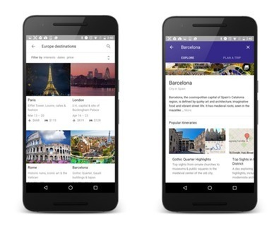 Google lanza Destinos, una nueva herramienta que le permitirá planificar viajes desde el móvil - Marketing Directo | Aplicaciones y tecnología | Scoop.it