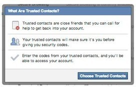 """Facebook allows password recovery on """"Trusted contacts"""" 
