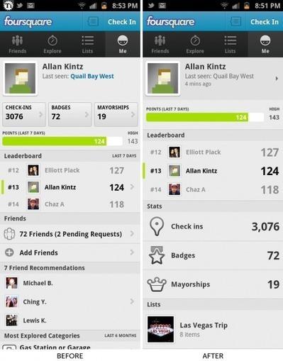 Mise à jour de Foursquare pour Android | toute l'info sur Foursquare | Scoop.it