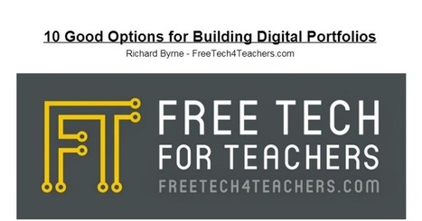 Free Technology for Teachers: 10 Good Tools for Creating Digital Portfolios - A PDF Handout | TEFL & Ed Tech | Scoop.it