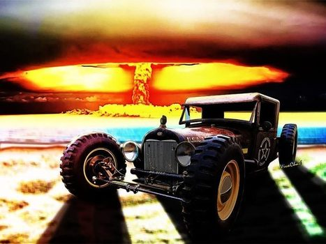 Nuke Rod Last Sunrise at the Beach that Hot Day | VivaChas!  Hot Rod Art | Scoop.it