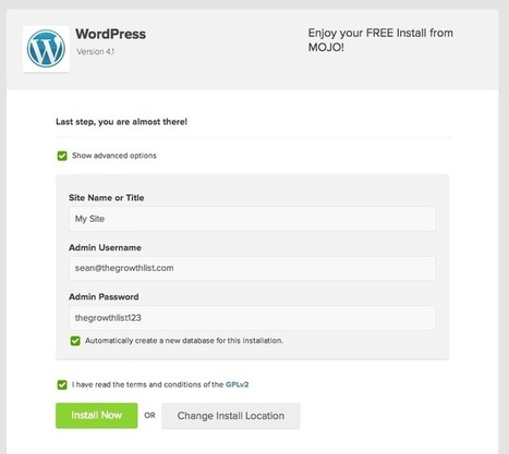 How to Setup Your Wordpress Blog and Write Your First Post in Less Than 5 Minutes | website builders | Scoop.it