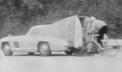 Vintage video - Frenchman hits 186kph riding a bicycle, more than half a century ago | road.cc | Road cycling news, Bike reviews, Commuting, Leisure riding, Sportives and more | Classic Mercedes | Scoop.it