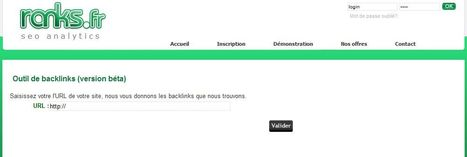 Outil SEO de visualisation de backlinks - Ranks.fr | Time to Learn | Scoop.it