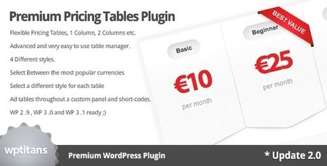 Premium Pricing Tables Plugin | My Best Wordpress Plugins | Scoop.it
