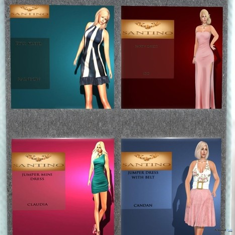 10 Dresses and Outfits Group Gifts by Santino Design | Teleport Hub - Second Life Freebies | Second Life Freebies | Scoop.it
