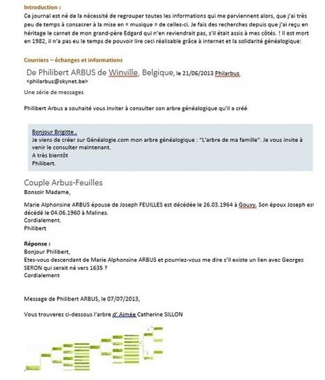 A toutes branches: Mon journal de Recherches Généalogiques   Rhit Genealogie   Scoop.it