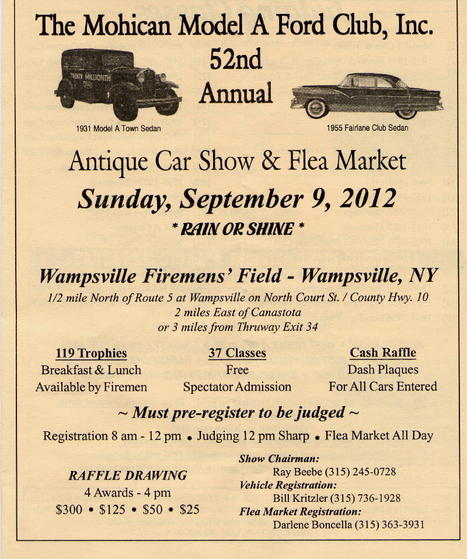 700 Vehicles Expected in the Mohican A Auto Club Show | Central New York Traveler | Scoop.it