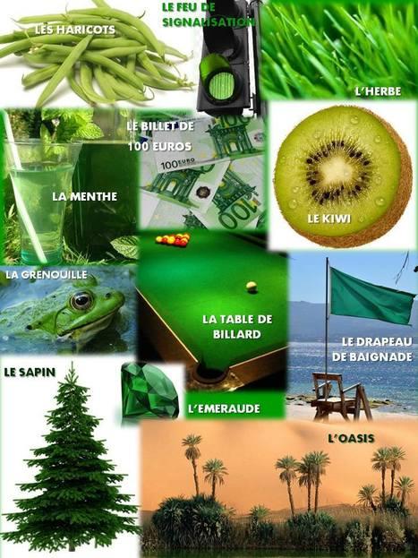 A1 - Vert comme ... | FLE enfants | Scoop.it