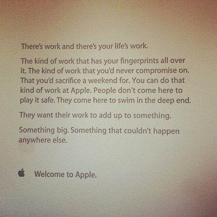 This inspiring note greets new Apple staff on their first day | Differentiation | Scoop.it