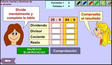 Términos de la división y cálculo mental | Revista GenMagic | Scoop.it