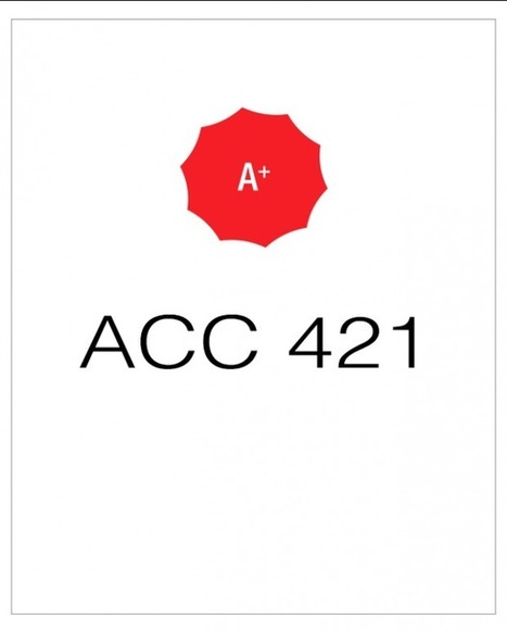 ACC 421 Week 1 Individual Assignments | UopGuide.com | Scoop.it