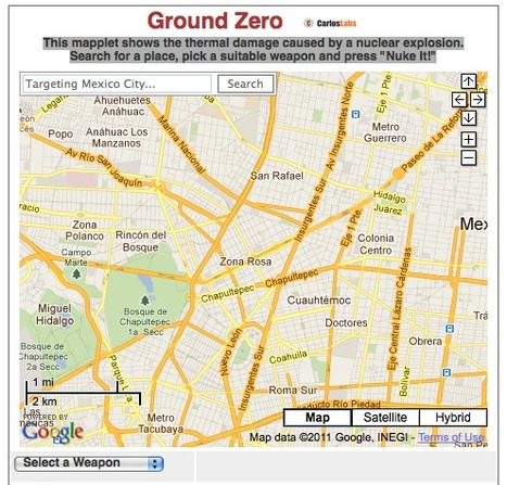 Ground Zero: Google Maps and Nuclear Weapons | Interactive History Resources | Scoop.it