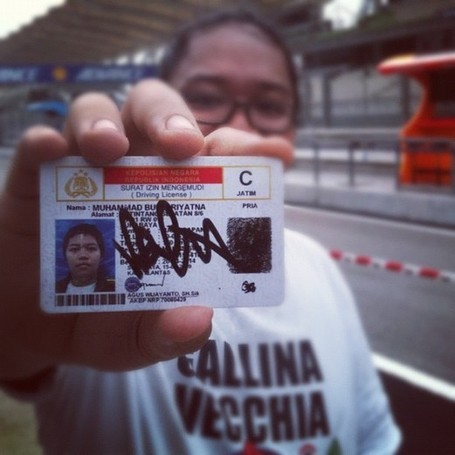 "dhixxx's photo posted to Instagram - ""my riding license...signed by Valentino Rossi"" 