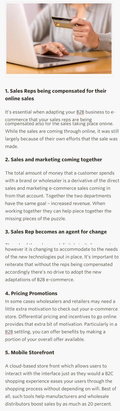 5 Best Practices for B2B E-Commerce Adoption - Salesforce | 123MULTIMEDIA | Scoop.it