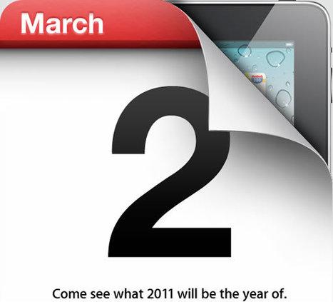 Confirmé : l'iPad 2 sera dévoilé officiellement le 2 mars   Actu Apple   Scoop.it