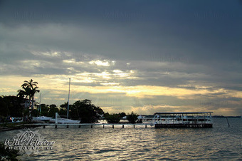 Sunset in Belize - photo taken from Admiral's Bay Restaurant and Bar | Filmbelize | Scoop.it