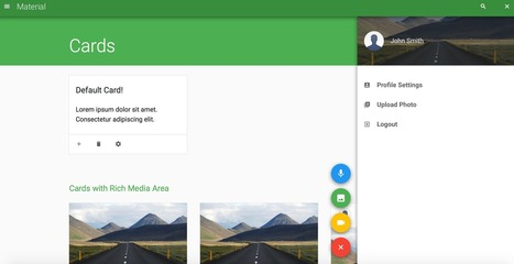 Create slick HTML5 UI with this free Material Design template | Worth to Scoop it | Scoop.it