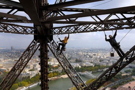 Les peintres-alpinistes de la tour Eiffel | Tout le web | Scoop.it