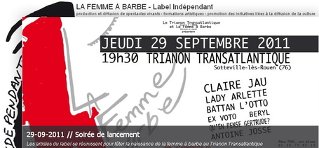 La Femme à barbe : Label Indépendant | production et diffusion de spectacles vivants - formations artistiques - promotion des initiatives liées à la diffusion de la culture | Rouen | Scoop.it