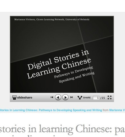 Digital stories in learning Chinese: pathways to developing literacies | AAEEBL -- Digital Storytelling | Scoop.it
