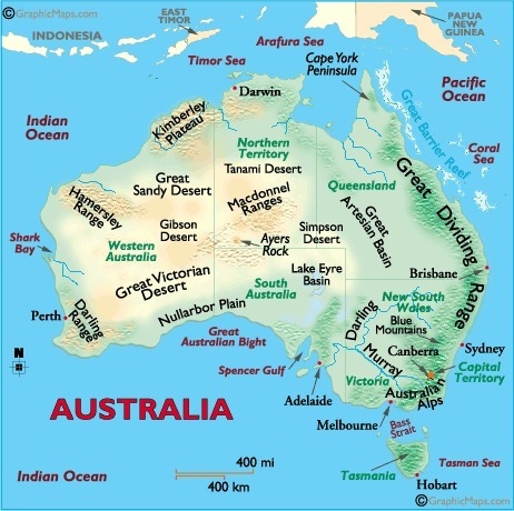 Australia landforms and land statistics   Investigating Landforms and Landscapes   Scoop.it