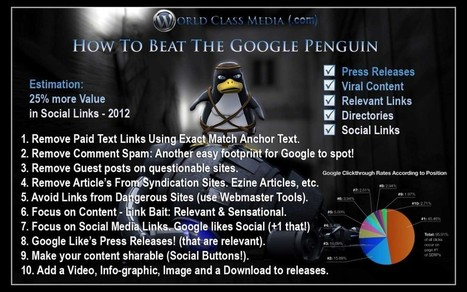Google Penguin Penalty SEO Tips! – Info Graphic - Blaze Studios | SEO and Social Media Updates | Scoop.it