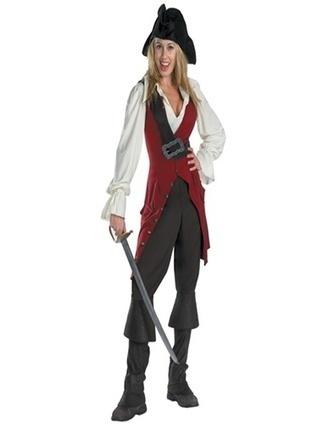 Elizabeth Pirate Deluxe Costumes, Pirates of the Caribbean 3 Elizabeth Pirate (2007) Deluxe Cosplay Costume -- CosplaySuperDeal.com | Game Cosplay | Scoop.it