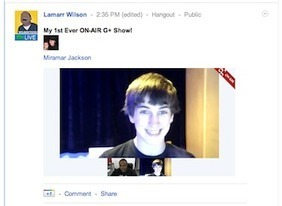 Google+ hangouts on Air : A live broadcast feature with recording to youtube launched for some users!   BI Revolution   Scoop.it