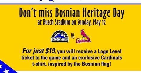 A beautiful Bosnian Day @ Busch Stadium | Bosnian Heritage Day | Scoop.it