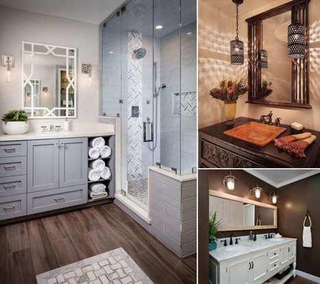 10 Chic Bathroom Vanity Lighting Ideas | Amazing interior design | Scoop.it